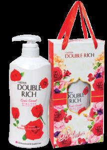Sữa tắm dưỡng ẩm Double Rich hương Hoa hồng chai 800g