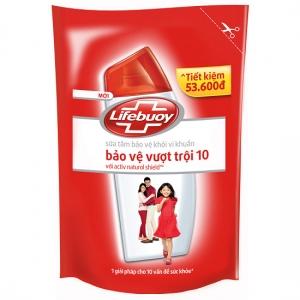 Sữa tắm kháng khuẩn Lifebuoy bảo vệ vượt trội 10 - Túi 850g