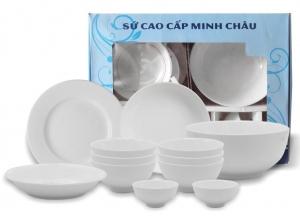 Bộ quà Bàn ăn sứ cao cấp Minh Châu (12 món)