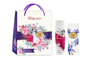 Hộp quà dầu gội Double Rich Love Me 170g & sữa tắm hương hoa Iris 200g