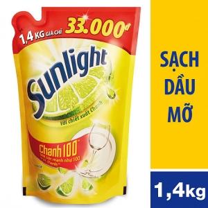 Nước rửa chén Sunlight Chanh 1.4kg (túi)