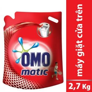 Nước giặt OMO Matic cho máy cửa trên (túi 2.7kg)