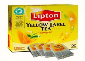 Trà Lipton nhãn vàng túi lọc New (hộp 100 gói)