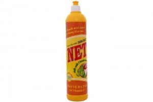 Nước rửa chén NET Đậm đặc Vitamin E hương Chanh chai 800ml