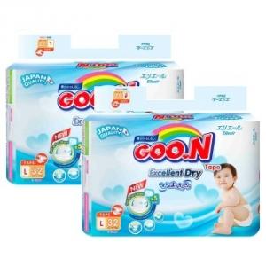 Bộ 2 Tã dán Goon Renew Slim size L - 32 miếng (9 - 14 kg)