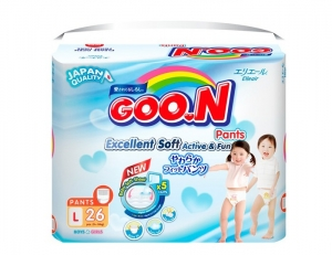 Tã quần Goon Renew Slim size L - 26 miếng
