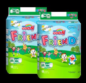 Bộ 2 Tã quần GOO.N Friend size M - 58 miếng (7 - 12 kg)