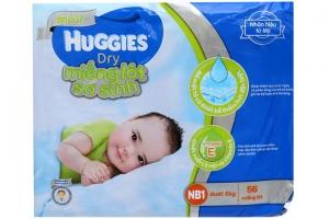 Miếng lót Huggies Dry NB1 56 miếng (bé dưới 5kg)