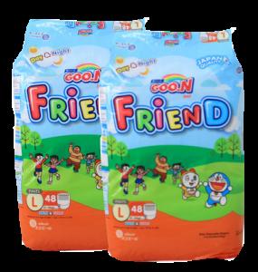 Bộ 2 gói Tã quần GOO.N Friend L48 (9 - 14 kg)