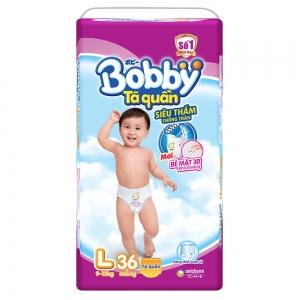 Tã quần Bobby siêu thấm size L - 36 miếng