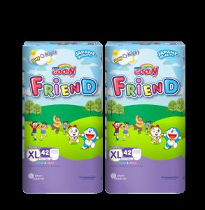 Bộ 2 Tã quần GOO.N Friend size XL - 42 miếng (12 -17 kg)