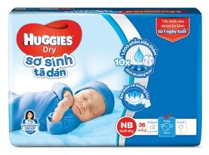 Tã dán sơ sinh Huggies size NB 36 miếng