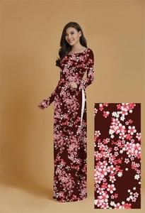 Vải áo dài in lụa 3D mẫu VAD-14