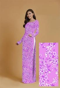 Vải áo dài in lụa 3D mẫu VAD-15