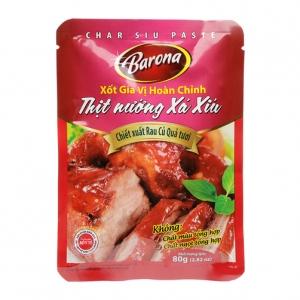 Sốt Gia Vị Hoàn Chỉnh Thịt Nướng Xá Xíu Barona - gói 80G