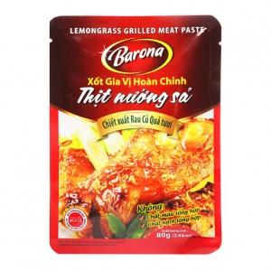 Sốt Gia Vị Hoàn Chỉnh Thịt Nướng Sả Barona Gói 80G