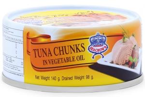Cá ngừ ngâm dầu Sea Crown - hộp140g