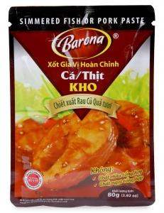 Sốt Gia Vị Hoàn Chỉnh Cá/Thịt Kho Barona Gói 80G