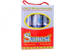 Nước Yến sào Khánh Hoà Sanest không đường 190ml (hộp 6 lọ)