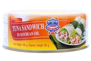 Cá ngừ cắt khúc ngâm dầu thực vật Sea Crown 140g