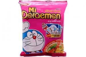 Mì Doraemon hương vị Tôm gà phi tỏi gói 62g
