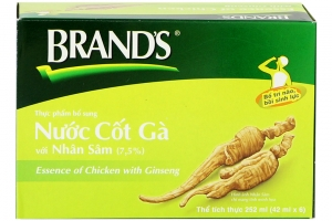 Nước cốt gà Brand's với nhân sâm lọ 42ml (hộp 6 lọ)