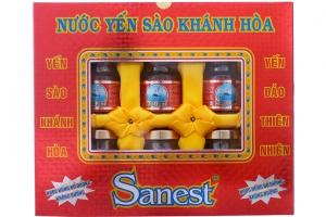Nước Yến sào Khánh Hoà Sanest không đường 70 ml (hộp 6 lọ)