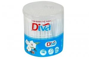 Tăm bông VST que nhựa baby DIVA ( hộp 200 que)