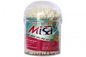 Tăm bông VST que nhựa BABY Diva (hộp tròn 125 que)