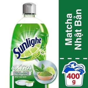 Nước Rửa Chén Sunlight Trà Xanh - chai 400g
