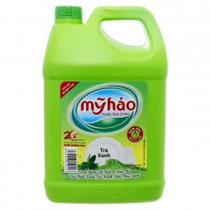 Nước rửa chén Mỹ Hảo trà xanh - can 3.8 lít