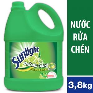 Nước Rửa Chén Sunlight Trà Xanh Dạng Chai 3.8kg