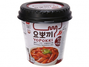 Bánh gạo tokbokki Yopokki siêu cay ly 120g