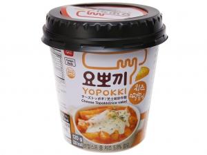 Bánh gạo tokbokki Yopokki vị phô mai ly 120g