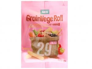 Bánh ngũ cốc cuộn kem hương dâu Neo gói 80g
