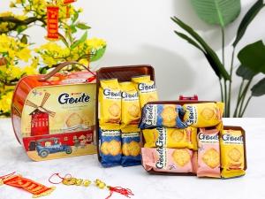 Bánh quy mè giòn tan Gouté (phiên bản đặc biệt) hộp thiếc 432g
