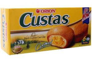 Bánh bông lan nhân kem trứng Custas 138g (6 cái)