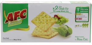 Bánh quy mặn vị rau cải AFC 250g (8 gói)