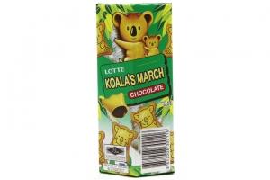 Bánh gấu nhân kem socola Lotte Koala's March 37g