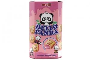 Bánh gấu nhân kem dâu Hello Panda Meiji 50g