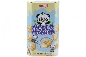 Bánh gấu nhân kem sữa Hello Panda Meiji 50g