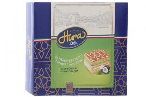 Bánh bông lan kem cốm dừa Hura 168g (6 cái)
