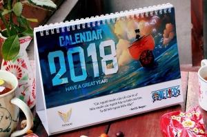 Lịch bàn One Piece cho năm mới 2018