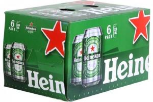 Bia Heineken lon 330ml (lốc 6 lon)
