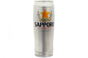 Bia Sapporo bạc lon 650ml