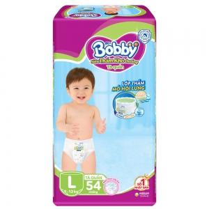 Bỉm tã quần Bobby size L 54 miếng (9-13kg)