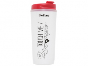 Bình giữ nhiệt nhựa 500ml Biozone trắng đỏ