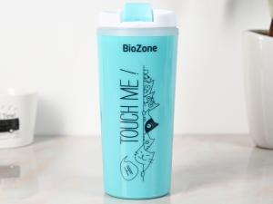 Bình giữ nhiệt nhựa 500ml Biozone xanh trắng