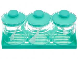 Bộ 3 hũ gia vị nhựa Tân Bách Phát
