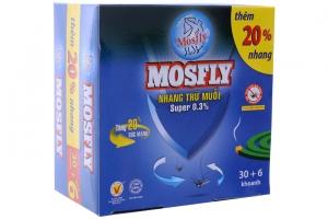 Nhang trừ muỗi Mosfly xanh 36 khoanh